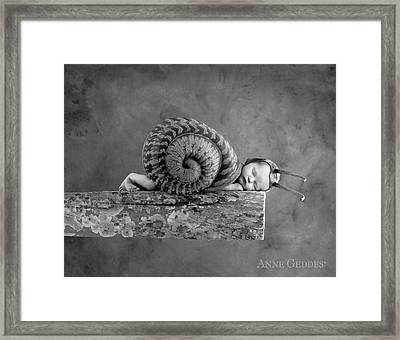 Julia Snail Framed Print by Anne Geddes