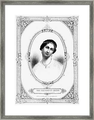 Julia Tyler (1820-1869) Framed Print by Granger
