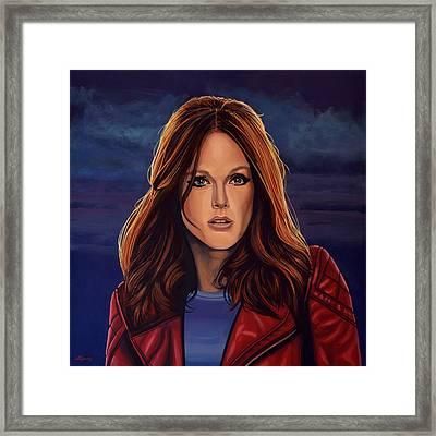 Julianne Moore Framed Print by Paul Meijering