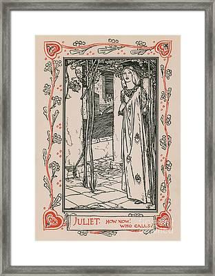 Juliet From Romeo And Juliet Framed Print by Robert Anning Bell