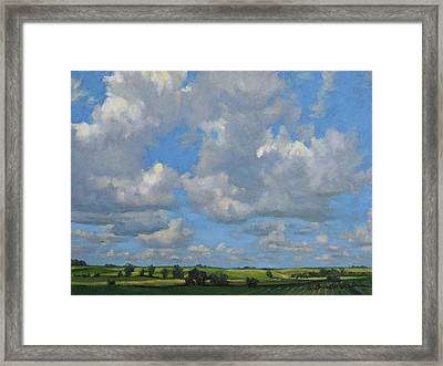 July In The Valley Framed Print by Bruce Morrison
