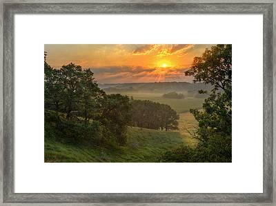 July Morning Along The Ridge Framed Print by Bruce Morrison