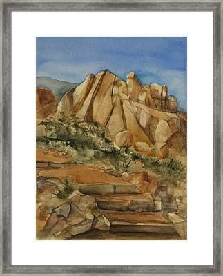 Jumbo Rocks At Joshua Tree Framed Print by Lynne Bolwell