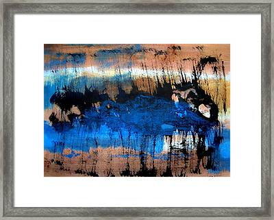Jumping Whale Framed Print by Aquira Kusume