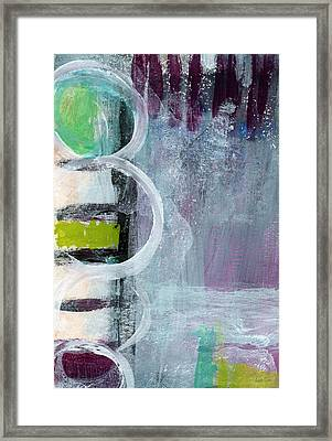 Junction- Abstract Expressionist Art Framed Print by Linda Woods