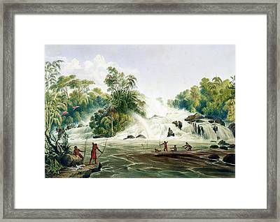 Junction Of The Kundanama Framed Print by Charles Bentley
