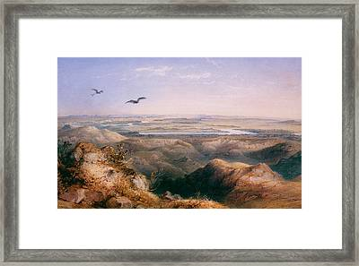 Junction Of The Yellowstone And The Issouri Framed Print by Karl Bodmer