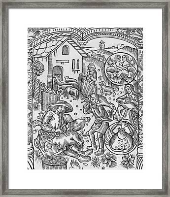 June  Gemini Framed Print by Pierre Le Rouge
