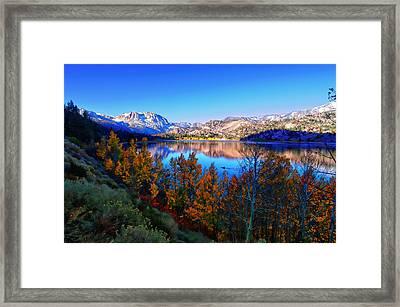 June Lake California Sunrise Framed Print by Scott McGuire