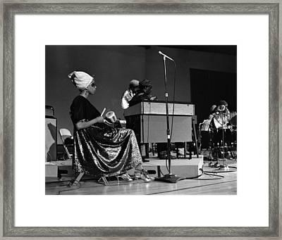 June Tyson 1968 Framed Print by Lee  Santa