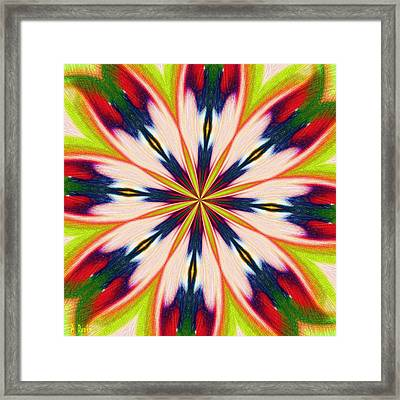 Jungle Flower Bloom Framed Print by Alec Drake