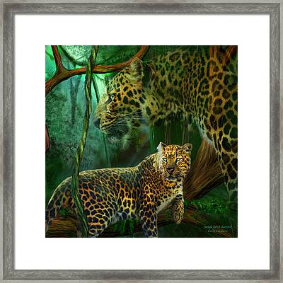 Jungle Spirit - Leopard Framed Print by Carol Cavalaris