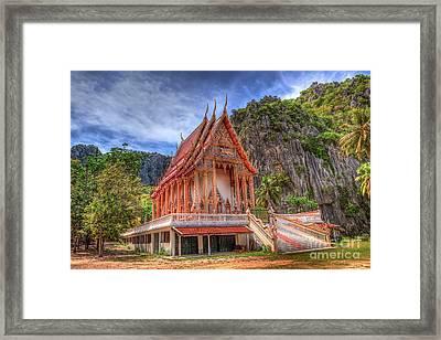 Jungle Temple V2 Framed Print by Adrian Evans