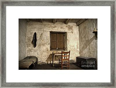 Junipero Serra Cell In Carmel Mission Framed Print by RicardMN Photography