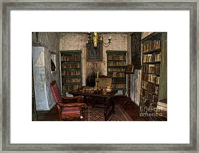 Junipero Serra Library In Carmel Mission Framed Print by RicardMN Photography