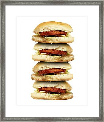 Junk Food Framed Print by Victor De Schwanberg