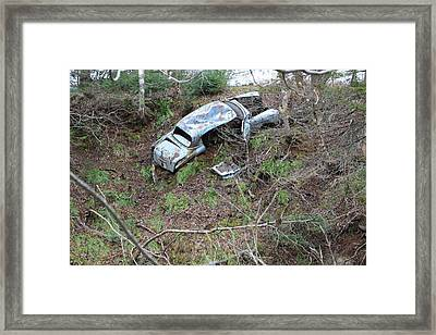 Junk On The Dunk Framed Print by Ron Pringle