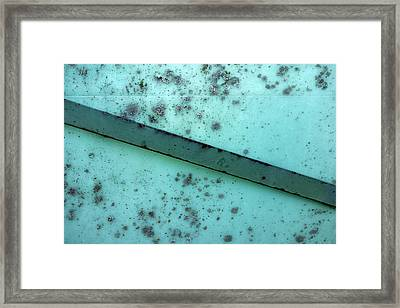 Junk Yard Abstract Framed Print by Ann Powell