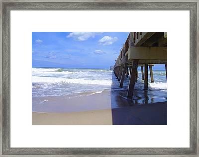 Juno Pier Framed Print by Carey Chen