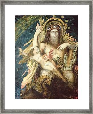 Jupiter And Semele  Framed Print by Gustave Moreau