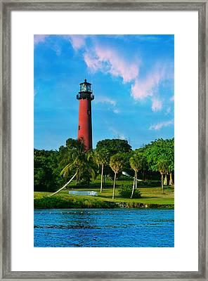 Jupiter Florida Lighthouse Framed Print by Laura Fasulo