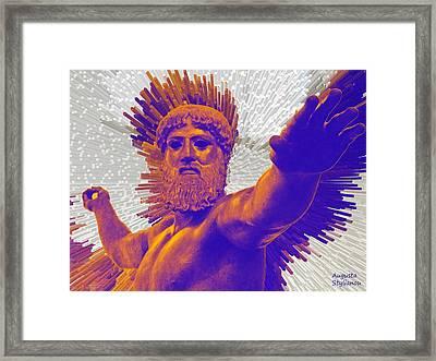 Jupiter - Zeus Framed Print by Augusta Stylianou