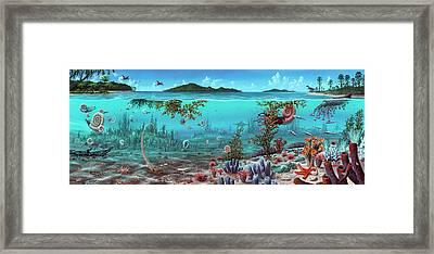 Jurassic Heteromorph Ammonites Framed Print by Richard Bizley