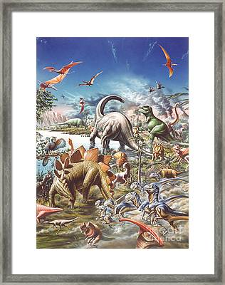 Jurassic Kingdom Framed Print by Adrian Chesterman