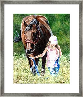 Just A Girl And Her Horse Framed Print by Shana Rowe Jackson