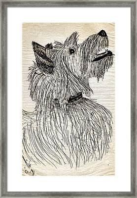Just A Happy Fellow Framed Print by Joy Reese