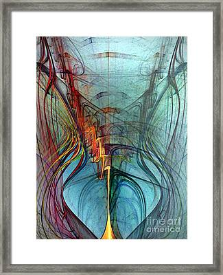 Just A Melody-abstract Art Framed Print by Karin Kuhlmann
