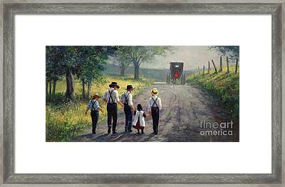 Just Around The Bend Framed Print by Laurie Hein