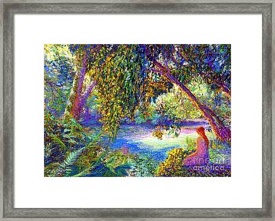 Meditation, Just Be Framed Print by Jane Small