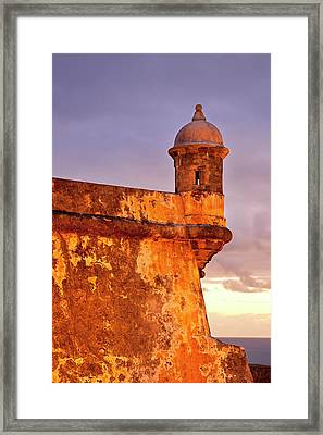 Just Before Dawn At Historic El Morro Framed Print by Brian Jannsen