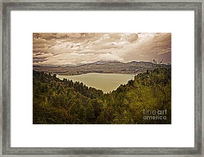 Just Before The Storm - Ardales Framed Print by Mary Machare