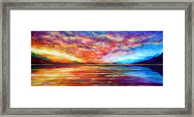 Just Beyond The Sunset Framed Print by Ann Marie Bone