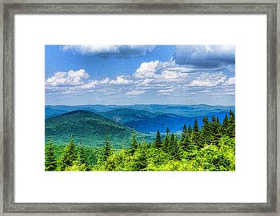 Just Breathe Deeply - Impressions Of Mountains Framed Print by Georgia Mizuleva