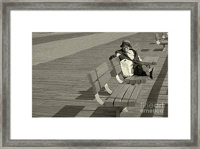 Just Chilling Framed Print by Jeff Breiman