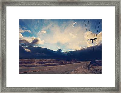 Just Down The Road Framed Print by Laurie Search