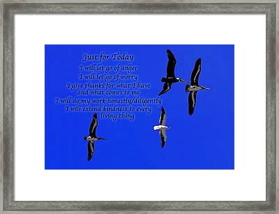 Just For Today 1 Framed Print by Bill Caldwell -        ABeautifulSky Photography