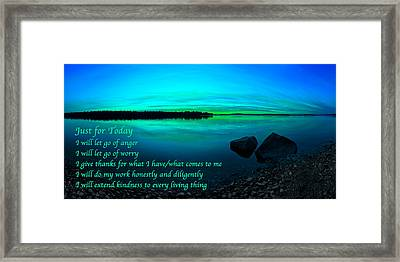 Just For Today 12 Framed Print by Bill Caldwell -        ABeautifulSky Photography