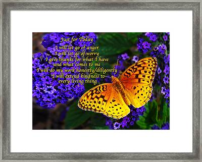 Just For Today 8 Framed Print by Bill Caldwell -        ABeautifulSky Photography