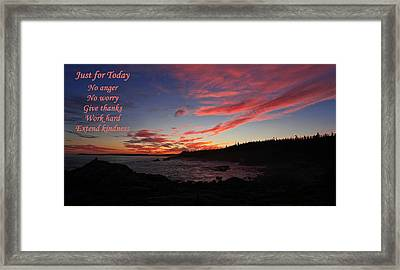 Just For Today 9 Framed Print by Bill Caldwell -        ABeautifulSky Photography
