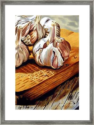 Just Garlic Framed Print by Cory Still