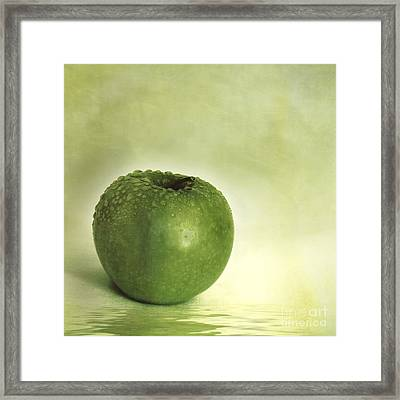 Just Green Framed Print by Priska Wettstein