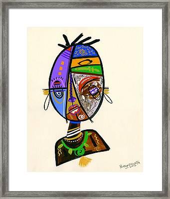 Just Me Framed Print by Oglafa Ebitari Perrin