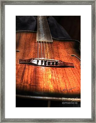Just Music Digital Guitar Art By Steven Langston Framed Print by Steven Lebron Langston