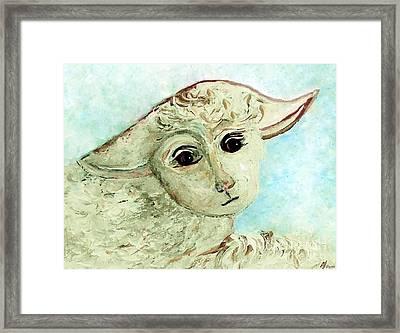 Just One Little Lamb Framed Print by Eloise  Schneider