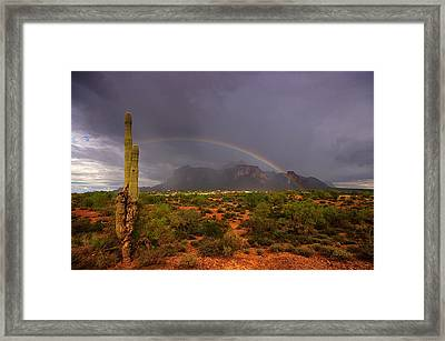 Just Over The Rainbow  Framed Print by Saija  Lehtonen