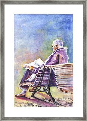 Just Passing The Time Away Framed Print by Carol Wisniewski